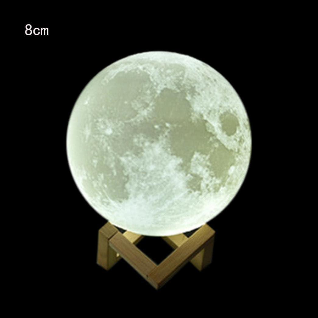 gaddrt luna llena proyección 3d led noche Touch Sensor mesa ...