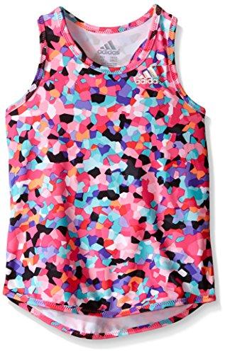 adidas Little Girls' Active Tank Tops, Mosaic, - Shirt Mosaic