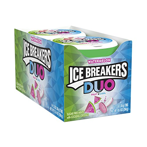 - Ice Breakers Duo Sugar Free Mints, Watermelon, 1.3 Ounce (Pack of 8)