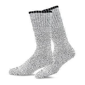Soxnet Eco Friendly Heavy Weight Recyled Cotton Thermals Boot Socks 4 Pairs (9-11, Color Tipping)