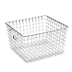 Spectrum Diversified 47970 Storage Basket, Medium, Chrome