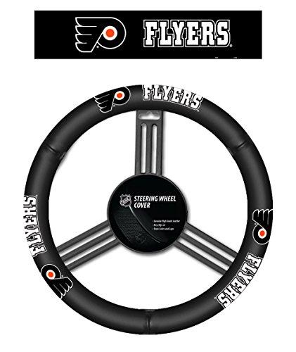 Fremont Die NHL Philadelphia Flyers Leather Steering Wheel Cover (Nhl Philadelphia Flyers Leather)