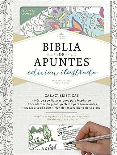 Rvr 1960 Biblia de Apuntes, Edición Ilustrada, Blanco En Tela Para ...