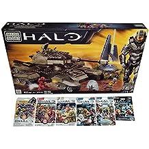 Mega Bloks Halo Bundle - UNSC Rhino (97016) + Series 7, 8, 9, Alpha, Bravo & Charlie Mini Figure Blind Bags Mystery Pack (1 Pack of Each)