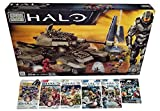 Mega Bloks Halo Bundle - UNSC Rhino (97016) + Series 7, 8, 9, Alpha, Bravo & Charlie Mini Figure Blind Bags Mystery Pack (1 Pack of Each)