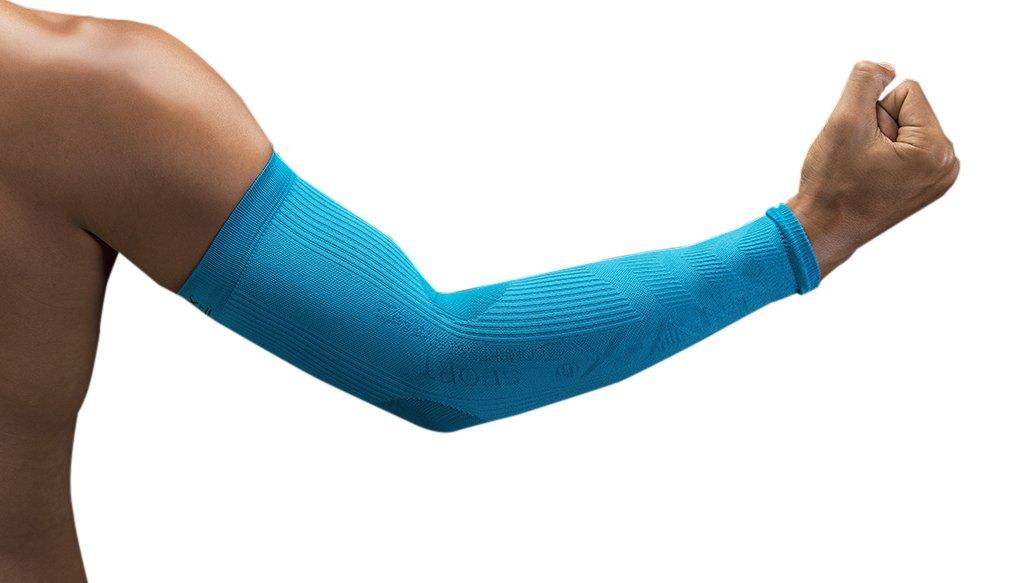 NV-X Sport Arm Sleeves 15-20MMHG Compression Enhanced Performance and Protection, Acid Aqua, Extra Large