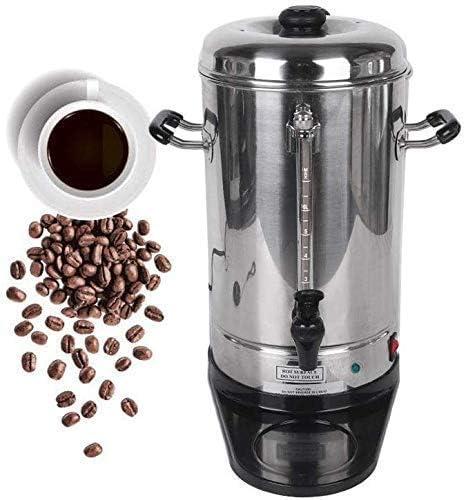 ZJN-JN Cafetières Machine à café, Machine à café automatique en acier inoxydable, filtre machine à café espresso, goutte à goutte Cafetière / 6L Machines à espresso