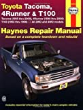 img - for Toyota Tacoma, 4 Runner & T100 Automotive Repair Manual. Models covered: 2WD and 4WD Toyota Tacoma (1995 thru 2000), 4 Runner (1996 thru 2000) and T100 (1993 thru 1998) by John H. Haynes Published by Haynes North America, Inc. (1999) Paperback book / textbook / text book
