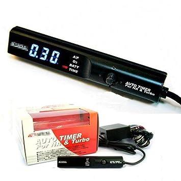 Temporizador automático de alta calidad de Turbo del contador de tiempo de la pantalla LED del contador de tiempo del coche de Digitaces para el coche: ...