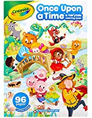 Crayola Fairytale Colouring Book, 64 Pages of Various Fairy Tales, Little Red Riding Hood and More, Includes Sticker Sheet, Great for Kids!