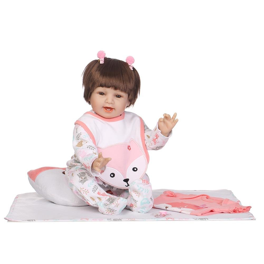 chinatera Kids Toys NPK 3D Cute Artificial Realistic Reborn Baby Doll Soft Silicone Cloth Dolls Kids Playmate by chinatera (Image #1)