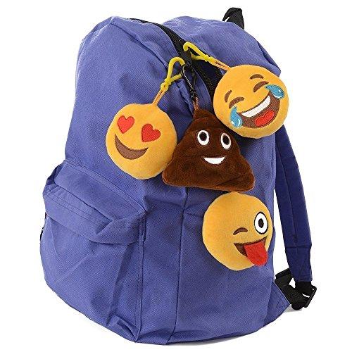 Emoji Universe: Talking Emoji Backpack Clips, Keychains; Plush Keychain Makes FUNNY SOUNDS! (4-Pack)