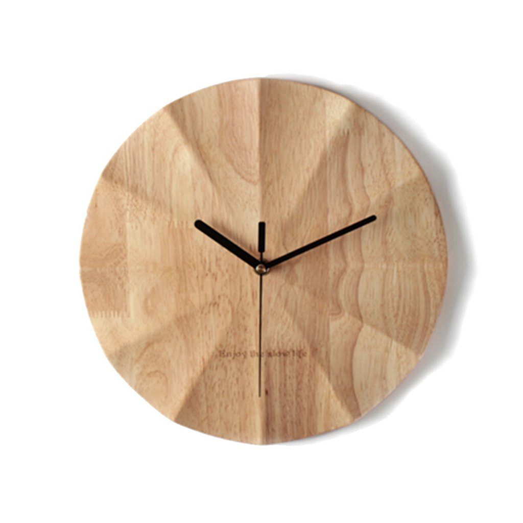シンプルな木製のミュートの壁時計 リビングルームの雰囲気の人格創造的な現代ファッション時計 ホームベッドルーム時計の壁の壁12インチ B07F5JB3JV