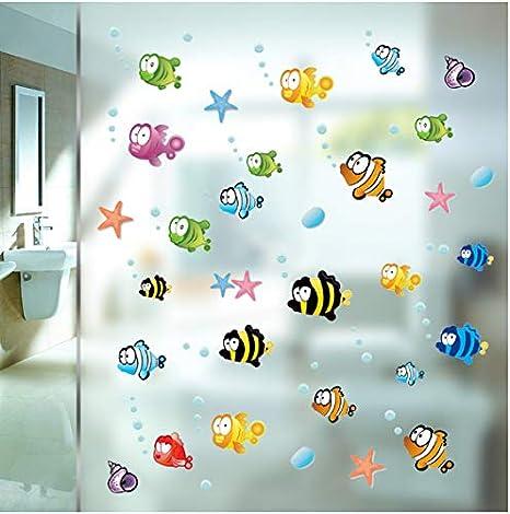 Peces Bajo El Agua Estrella De Mar Burbuja Burbujas Pegatinas De ...