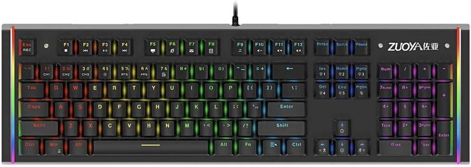 Gazechimp Teclado mecánico para Juegos con RGB LED ...