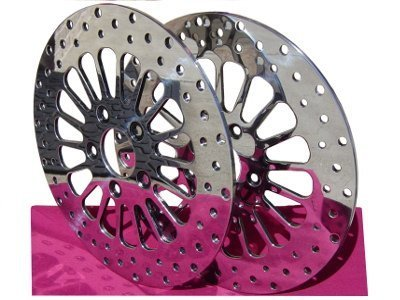 (SPOKE FRONT BRAKE ROTOR PAIR PARTS FOR HARLEY BAGGER TOURING)