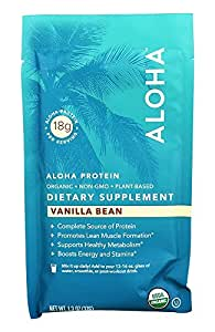 Aloha - Aloha Organic Plant Based Protein Vanilla - 1.3 oz.