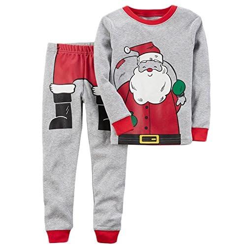f1ede06f2 2Pcs Christmas Outfits Kids Baby Boys Girls Santa Claus Print Tops T -shirt  Pants Pajamas