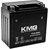 KMG YTX14L-BS Sealed Maintenace Free 12V Battery High Performance SMF OEM Replacement Maintenance Free Powersport Motorcycle ATV Scooter Snowmobile Watercraft KMG