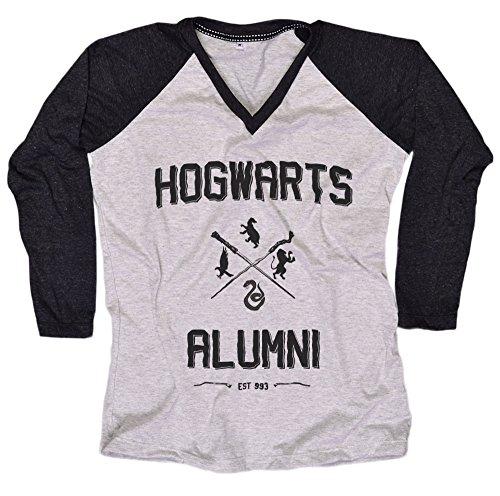 [Harry Potter Women T-Shirt Hogwarts House Everytees Long Sleeve Baseball Raglan Gift for Women] (Dobby Harry Potter Costumes)
