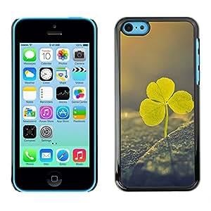 Irlandés del día de St Patrick verde Vignette Clover - Metal de aluminio y de plástico duro Caja del teléfono - Negro - iPhone 5C