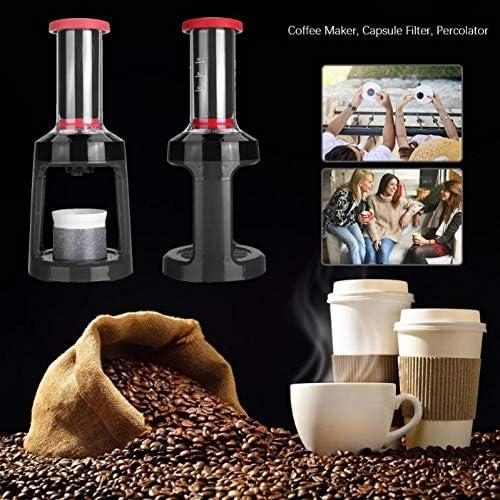 SYSWJ Kaffeemaschine Espresso-Kaffeemaschine Kapselfilter Tragbare Espresso-Handpresse Kaffeemaschine Für Espresso , Rot