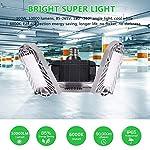 100W Deformable LED Garage Light Ceiling Light Factory Warehouse Industrial Lighting, 10000 Lumen IP65 Waterproof… 12