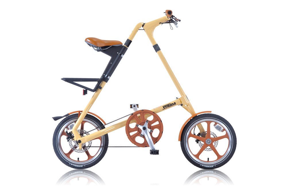 STRIDA(ストライダ) 16インチ折りたたみ自転車 シングルスピード アルミフレーム 前後ディスクブレーキ STRIDA LT CREAM B00W9O4L00