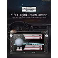 XTRONS 7 HD Digital Touch Screen Dual CANbus GPS Navigator Car DVD Player with Screen Mirroring Function Custom Fit for Volkswagen / Seat / Skoda Map Card Included