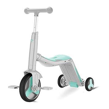 Amazon.com: SAN_Q Patinete infantil de tres ruedas, tres en ...