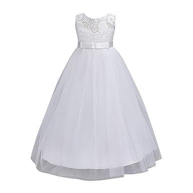 e191074855160 Oyedens Enfant Filles Robe de Princesse Fille Mariage Demoiselle d Honneur  Baptême Anniversaire Chic Robe