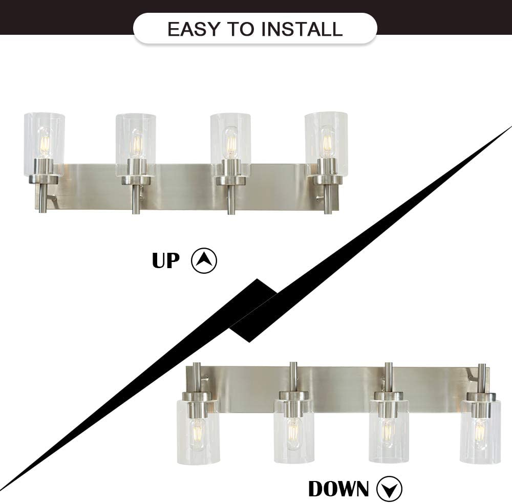 Vinluz 2 Light Sconces Wall Lighting Modern Wall Lamp With Clear Glass Shade Oil Rubbed Bronze