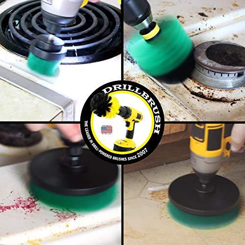 Drill Attachment Power Scrubber Turbo Scrub Kit Of 4