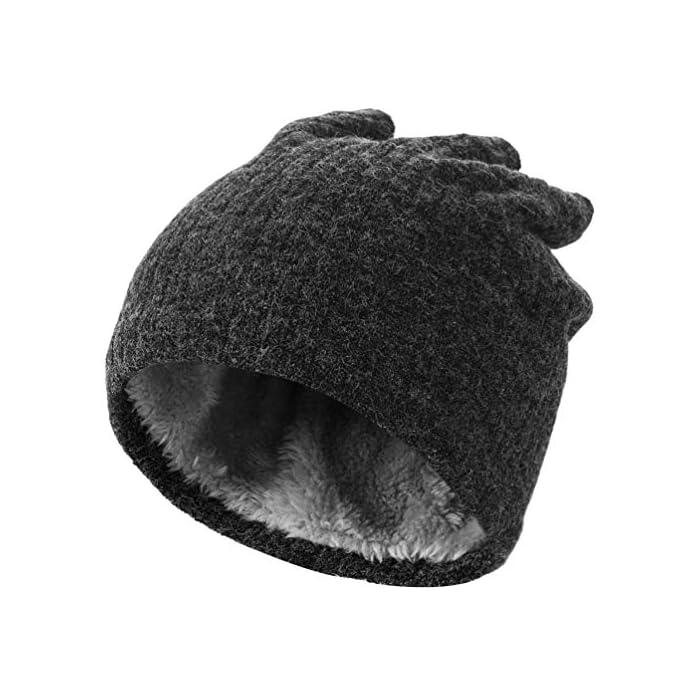 51Chh0URc0L Thickkened Knitting- el rendimiento ultra suave, cómodo y exquisito te sorprenderá. Y no producirá pilling ni se soltará después de su uso. Keep You Warm- El fino forro de felpa es útil para mantener el calor en el cuello, la cara, las orejas y la cabeza en días fríos. fibras acrílicas y felpa