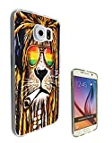 Cannibas Best Deals - 716 - Rasta Lion Weed Cannibas Hair Jamaican Design Samsung Galaxy S6 Edge Fashion Trend CASE Gel Rubber Silicone All Edges Protection Case Cover