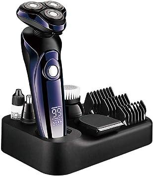 Maquinilla de afeitar eléctrica para hombres 5 en 1 Afeitadora ...