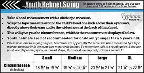 Youth Kids Full Face Helmet with Shield Motorcycle Street MX Dirtbike ATV - Pink (XL) by Typhoon Helmets (Image #7)