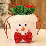 Clearance Tuscom Christmas Candy Party Gift Bag,for Chocolates, Candies,Biscuits15 X 18cm Storage Packing Wrapper Supplies (C)