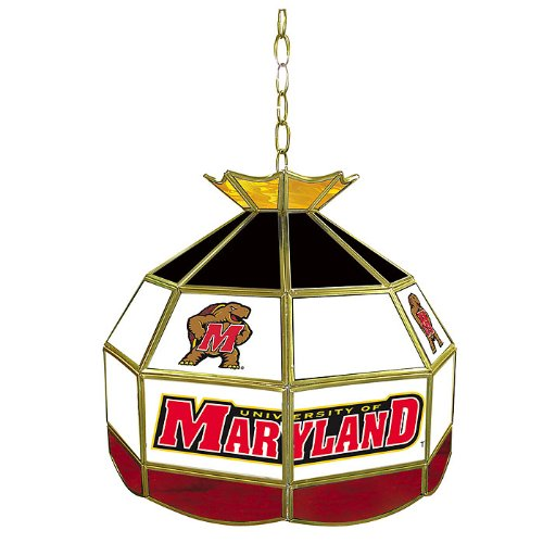 NCAA University of Maryland Tiffany Gameroom Lamp, 16'' by Trademark Gameroom