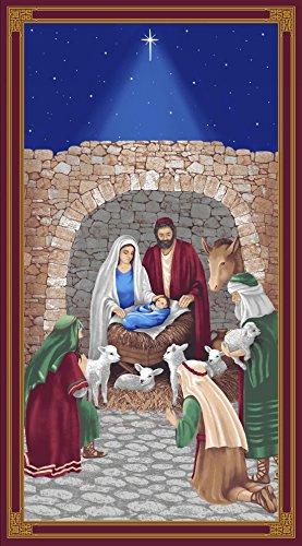 Blank Quilting Fabric (Premium Cotton Christmas Fabric - Blank Quilting Silent Night 8540P-77: Nativity Scene Panel)