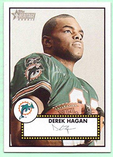 2006 Topps Heritage Rookie Card (Derek Hagan 2006 Topps Heritage Rookie #143 - Miami Dolphins)