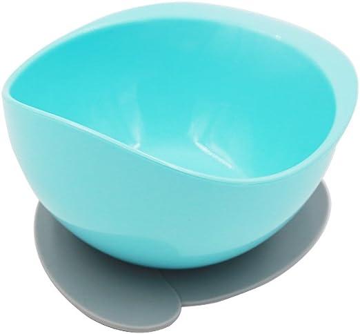 GNGS PLA - Cuenco redondo reutilizable con ventosa, sin BPA ...