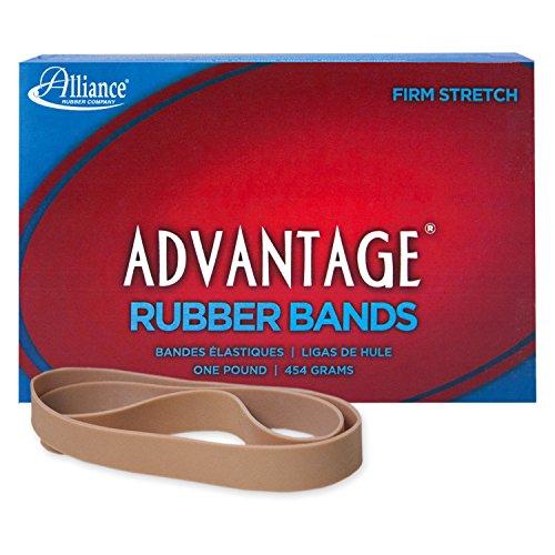 Alliance Rubber 27055 Advantage Rubber Bands Size #105, 1 lb Box Contains Approx. 60 Bands (5 x 5/8, Natural Crepe)