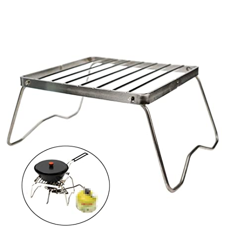 c323a2d8993bc Ultrafun Portable Camping Grill Compact Mini Stainless Steel Campfire  Charcoal Gas BBQ Grill Rack for Backpacking