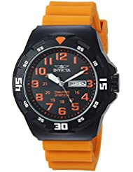 Invicta Mens Coalition Forces Quartz Stainless Steel and Silicone Casual Watch, Color:Orange (Model: 25329)