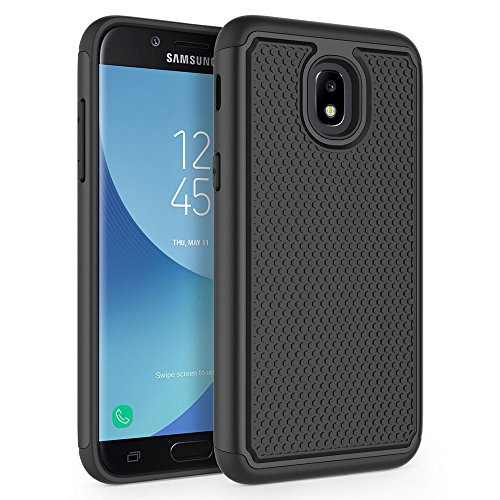 Case Samsung Galaxy J3 2018 / J3 V 2018 / J3 Star / J3 Achieve 2018 / Galaxy Express Prime 3 / Galaxy Amp Prime 3 / Galaxy Sol 3, SYONER [Shockproof] Protective Phone Case Cover [Black]