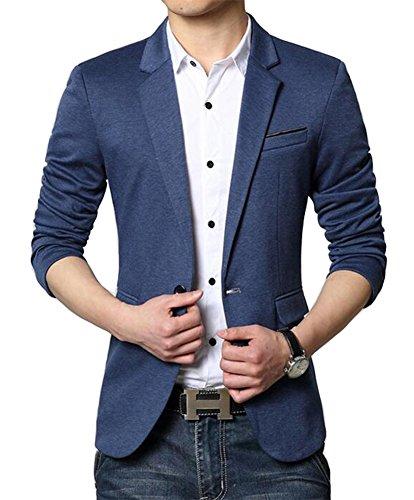 Benibos Men's Premium Casual One Button Slim Fit Blazer Suit Jacket (S, - Wear Men Suit