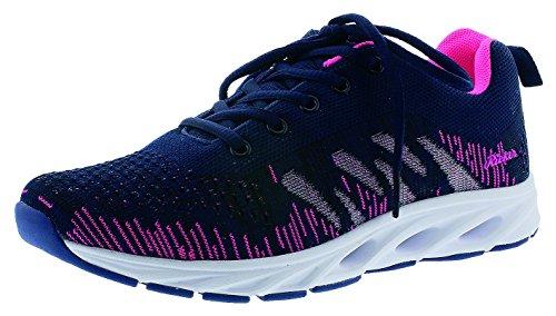 Rieker Damen N9300 Sneaker Mehrfarbig (Navy-Pink)