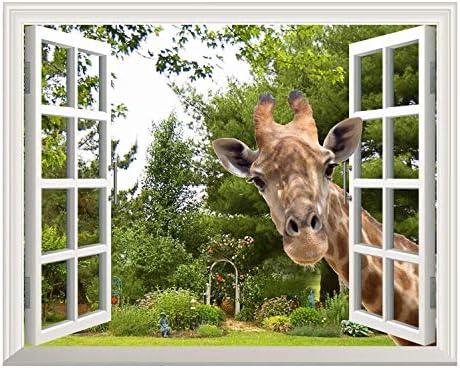 54720957ww Abstract geometric wall photo window wall sticker wall mural