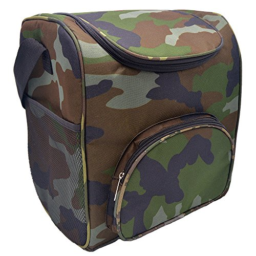 - HMQINYI 19L Large Camo Cooler bag Lunch Box for man Insulated Lunch Bag Picnic Food Storage Box (Camouflage)